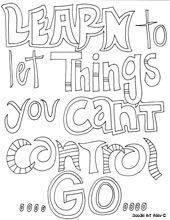 Quotes colouring pages - inspiration for kids to decorate their own classroom (find/make/decorate their own classroom mission statements)