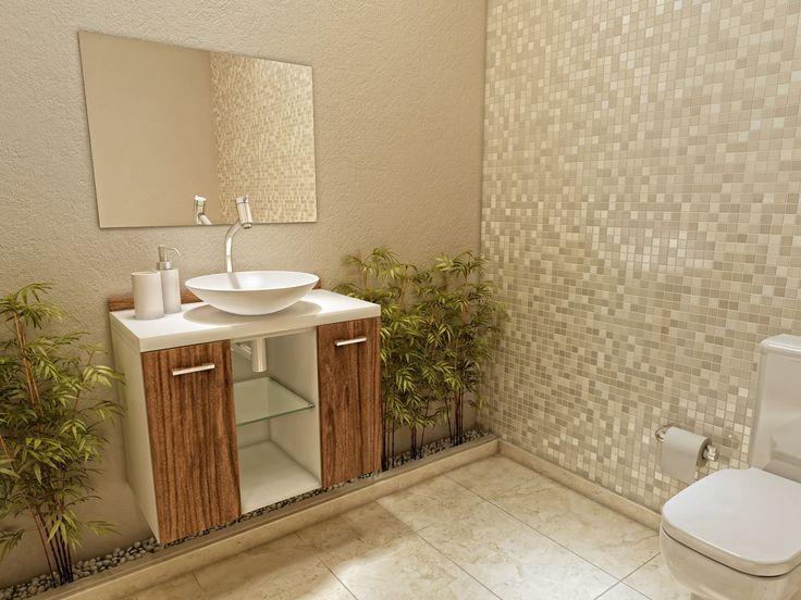 Gabinete para Banheiro com Cuba e Espelho 3 Peças 2 Portas - VTec Terra - Armários e Gabinetes para Banheiro - Magazine Luiza