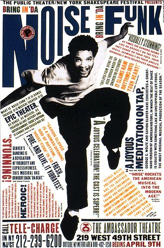Paula Scher - 1995 - Part of 'Bring in Da Noise Bring in Da Funk' Series  I must say I was skeptical, but it was great fun