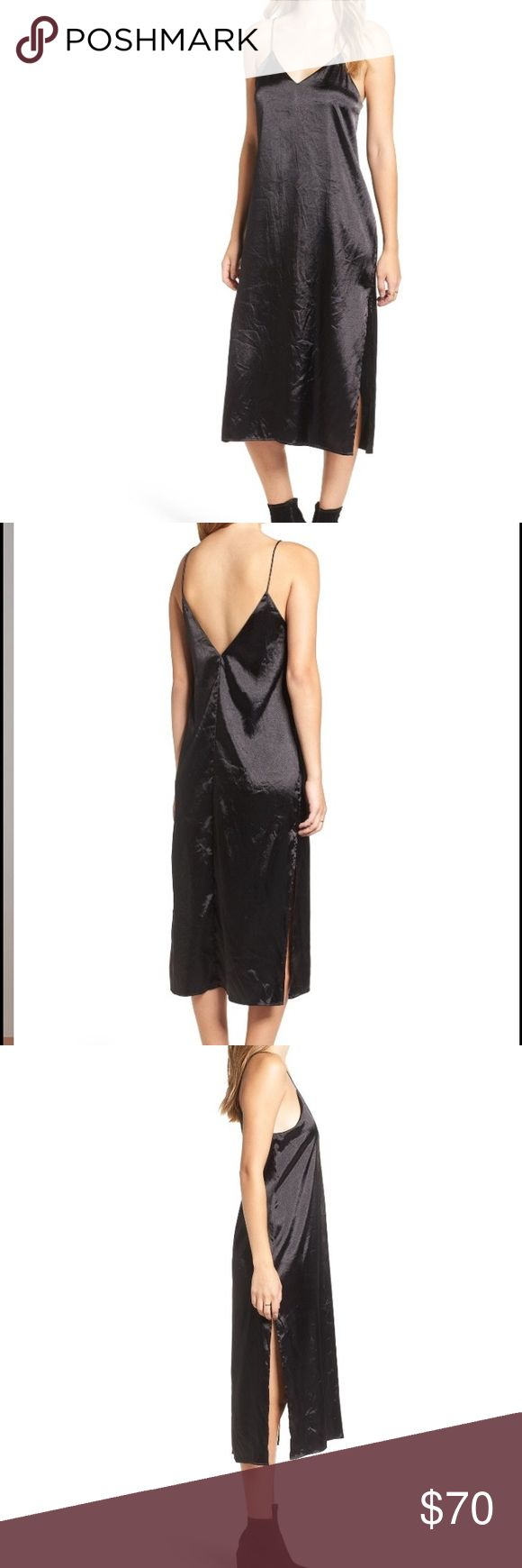 Finders Keepers the Label Midi Slipdress Finders Keepers the Label Midi Slipdress. Channel your inner '90s cool girl in a lightweight crinkled-satin slipdress with a daring split hem. Finders Keepers Dresses