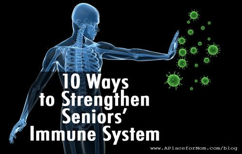Keeping seniors' immune systems strong is important, especially during the cold and flu season.