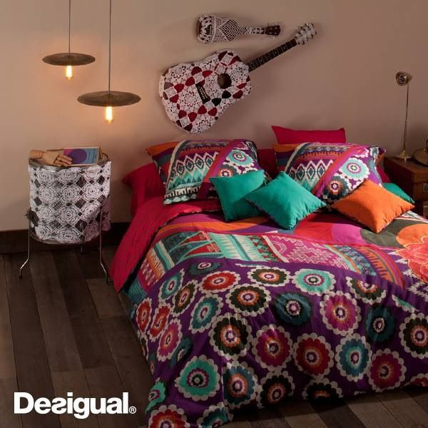 Put colors and happiness at home love desigual - Desigual home decor ...