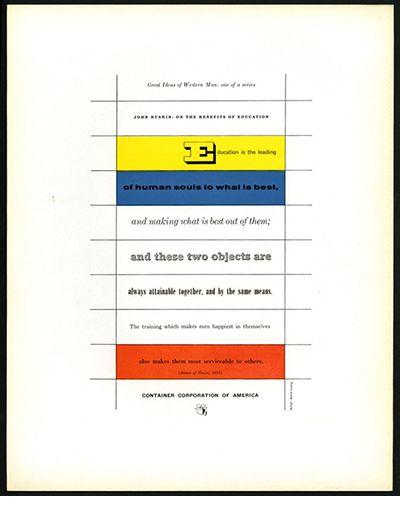 Herbert Bayer [Design Director]: GREAT IDEAS OF WESTERN MAN ADVERTISEMENTS FOR 1953 – 54.