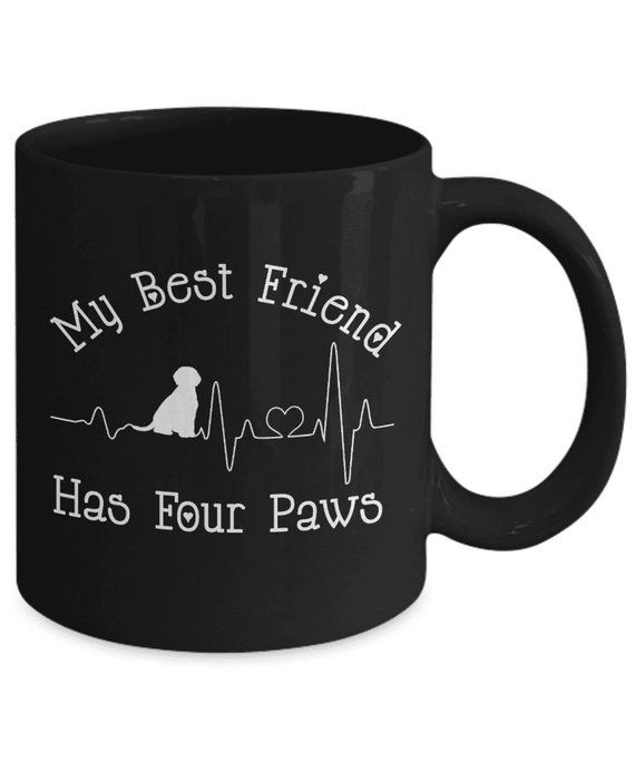Best Friend Has Four Paws Fun Dog Heartbeat Mom Dad Lover