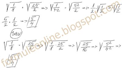 multiplying radicals examples -  example No. 12 with solution