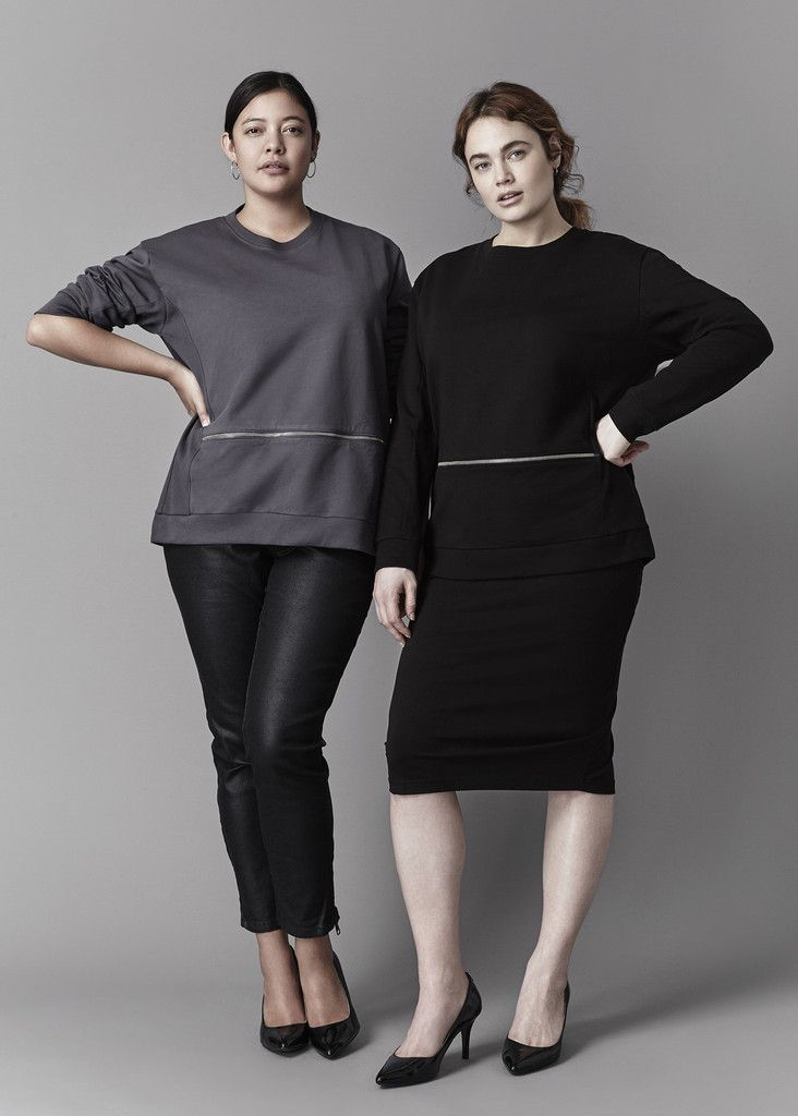 Plus Size Fashion Find of The Day: Equator Pullover From Universal Standard - PLUS Model Magazine Stylish Plus Size Clothing, Plus Size Outfits, Plus Size Fashion, Casual Outfits, Fashion Outfits, Fashion 101, Fall Outfits, Girl Fashion, Fair Trade Clothing