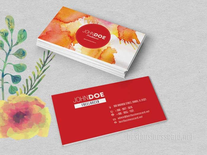 Free two sided watercolor business cards in red and purple logo free two sided watercolor business cards in red and purple logo design pinterest watercolor business cards business cards and business flashek Gallery