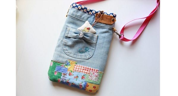 Tutorial: Remake your old jeans into a crossbody bag