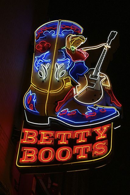 Stop in at Betty Boots in Nashville and get yourself a pair of genuine cowboy or cowgirl boots!