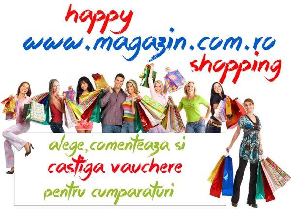 "Bucataresele Vesele si Magazin.com.ro va invita la o sesiune de Happy Shopping!! Va asteptam pe site-ul www.magazin.com.ro sa va plimbati printre ""rafturi"" si sa alegeti din produsele expuse ceea ce va doriti pentru voi , sau ceea ce va doriti si v-ar placea sa oferiti cadou sau pur si simplu sa alegeti ce aveti"
