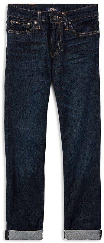 Ralph Lauren Boys' Dark-Wash Cuffed Skinny Jeans - Big Kid