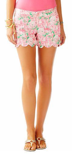 Lily Pultizer pink scalloped shorts