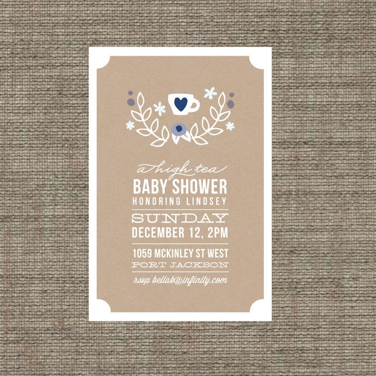 best baby girl shower images on   tea party, Baby shower invitation