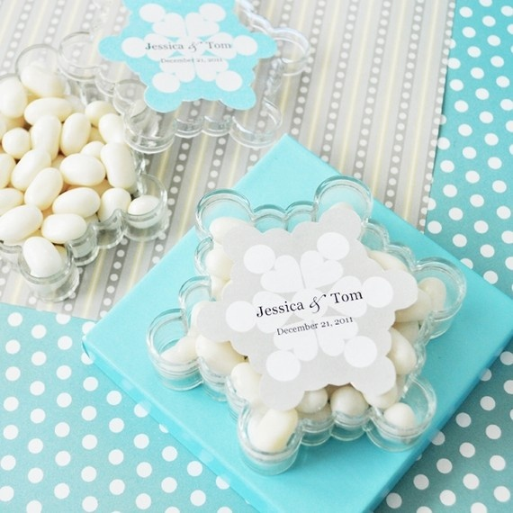 Snowflake Personalized Favor Boxes