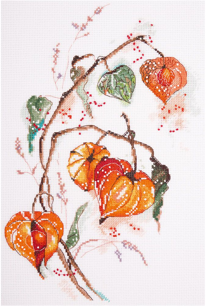 """Набор для вышивания """"PANNA"""" Ц-1837 """"Физалис"""" -   Леонардо хобби-гипермаркет - сделай своими руками"""