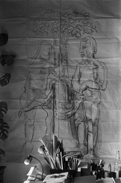 Estudio de Oscar Kokoschka. Villeneuve, Suiza, 1957. René Burri