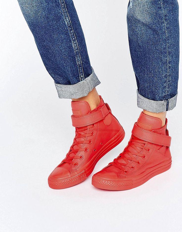 ¡Cómpralo ya!. Zapatillas de deporte hi-top Brea de Converse. Zapatos de Converse, Exterior de cuero, Cierre con cordones, Detalle de tira adhesiva, Diseño abotinado, Diseño o marca, Suela gruesa, Dibujo geométrico, Usar un protector de cuero, 92% cuero auténtico, 8% textil. Exterior. Desde los humildes comienzos en la cancha de baloncesto, las zapatillas de deporte de Converse han alcanzado la categoría de icono. Con un espíritu rebosante de originalidad y rebeldía, las clásicas za...