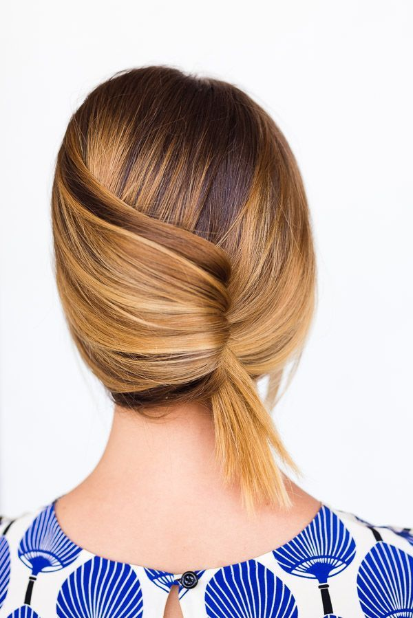 A Casual Summer French Twist in 60 Seconds. Click through for the (easy-as-can-be) hair tutorial. #theoriehaircareproducts,