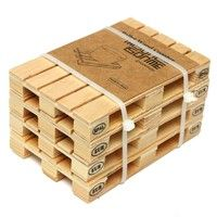 Home | Set of 4 Wooden Mini Euro Pallets Coasters Wooden Pallet Coaster Cup Mug Mat