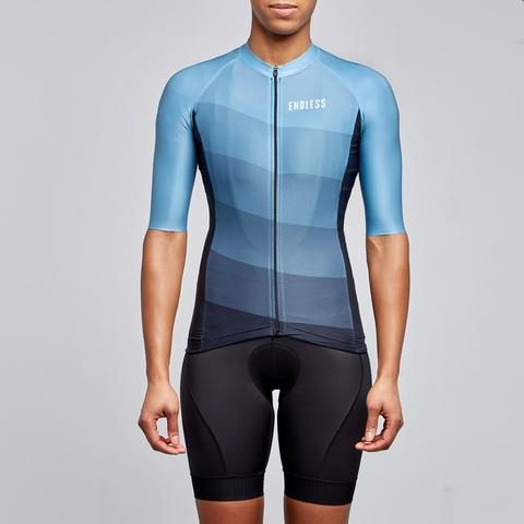 blue lines unisex cycling jersey by Endless