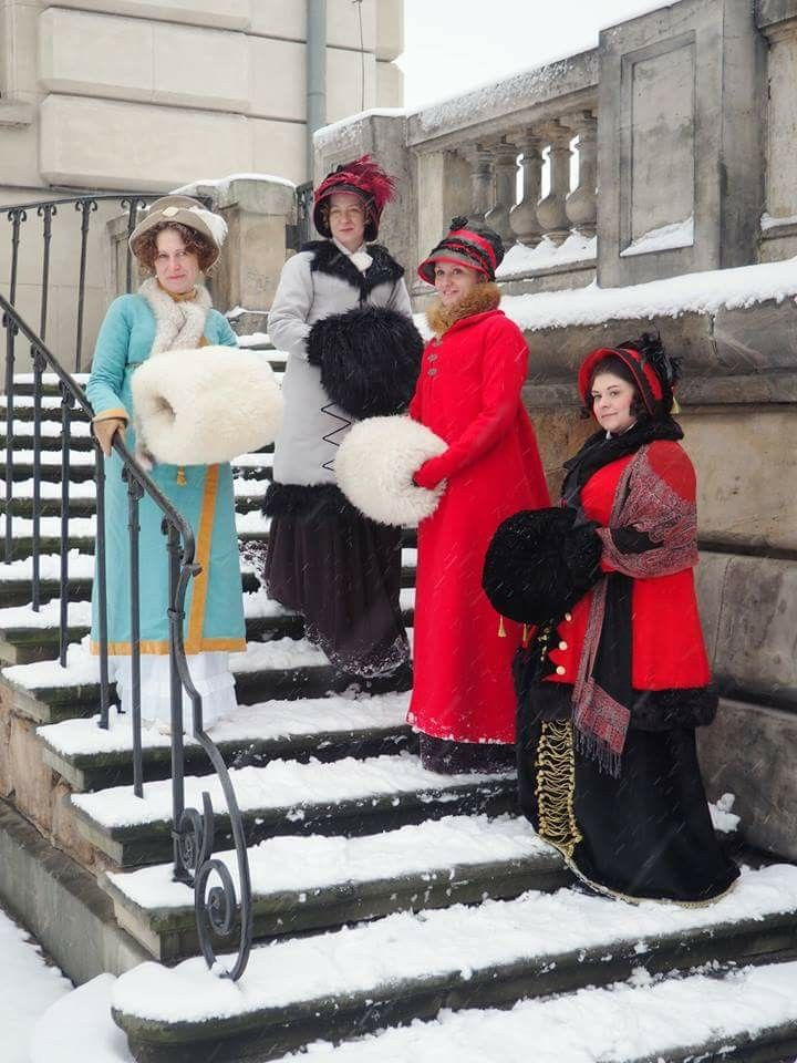 Regency ladies with muffs