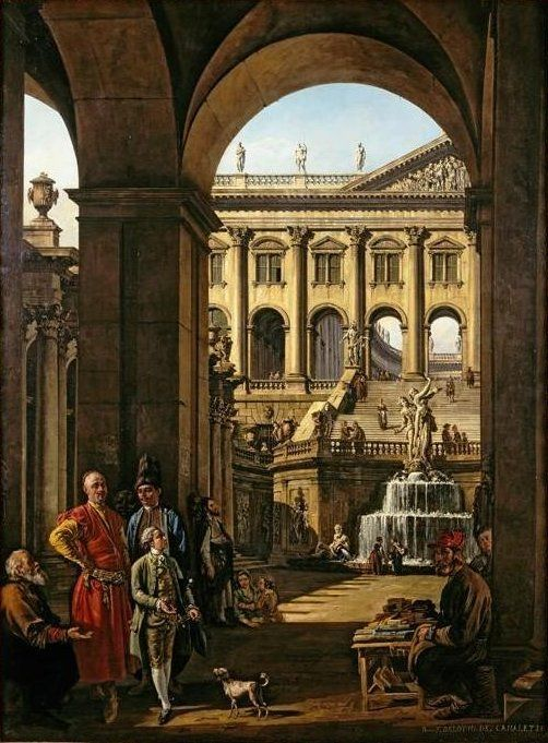 Bernardo Bellotto: Capriccio with a Portrait of Franciszek Salezy Potocki, 1763-64.