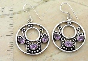 3.50ctw Genuine Amethyst Quartz & .925 Sterling Silver Plated Brass Dangle Earrings (SJHE0009A) #fashionearrings #fancyearrings #silverplatedearrings #platedearrings #brassearrings Buy Now: http://www.sterlingsilverjewelry.tv/genuine-amethyst-quartz-silver-plated-brass-dangle-earrings-sjhe0009a.html