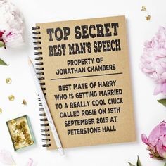 Personalised Best Man Wedding Notebook