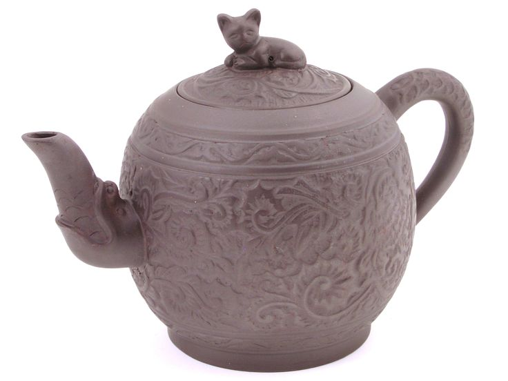 Cat and peony flower yixing teapot teavana yixing i love this and i want it wishes - Teavana teapot ...