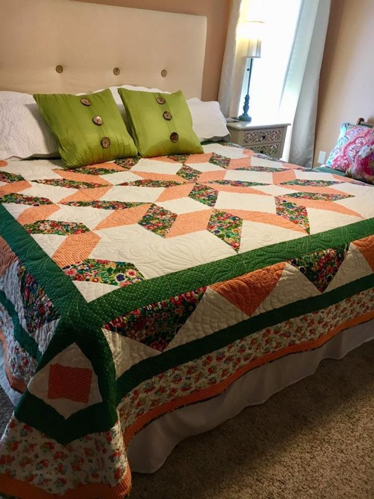 Carpenter Star King Size Quilt Pattern Etsy in 2020