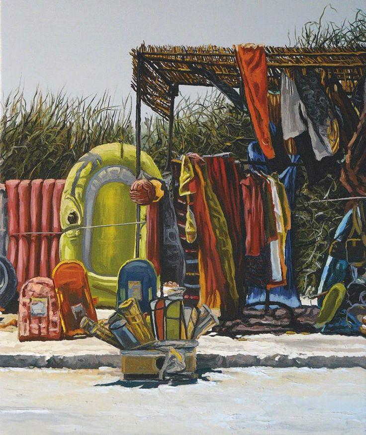 Artist/ Andrea Di Marco, Piaghe, 2009 - olio su tela, cm 100x70