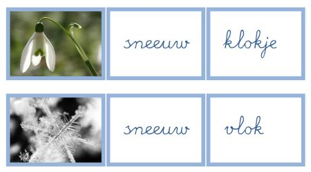 Sneeuw samengestelde woorden - MontessoriNet