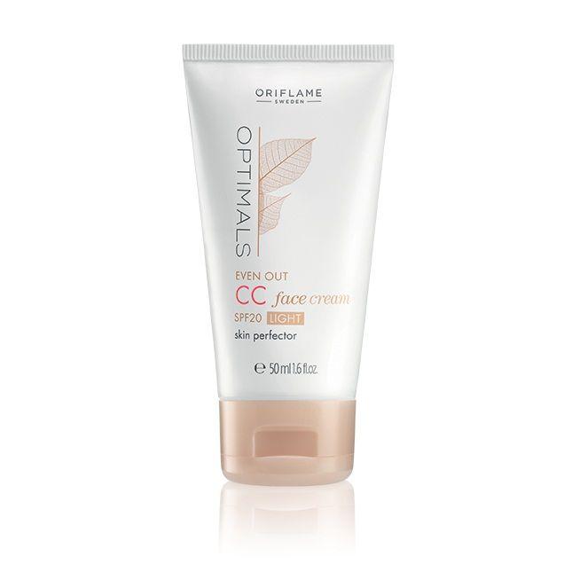 Optimals Even Out CC Face Cream - Rumex active, een plantenextract met huidverhelderend vermogen. Het helpt de melalineproductie te verminderen waardoor de vorming van pigment zal afnemen en de huidteint egaal blijft. 1 Helpt donkere vlekjes voorkomen. 2 Verheldert de huid. 3 onmiddelijk kleurherstel. 4 Helpt poriën verkleinen. 5 Verzacht huidtextuur. 6 Helpt voortijdige veroudering voorkomen. 7 Hele dag matte finish. 8 Hydrateert de huid. 9 SPF 20