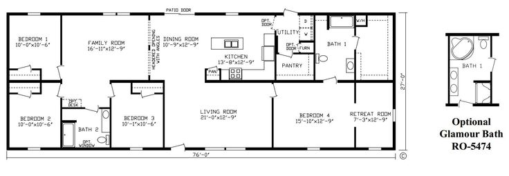 51 best images about mobile home floorplans on pinterest for 6 bedroom double wide