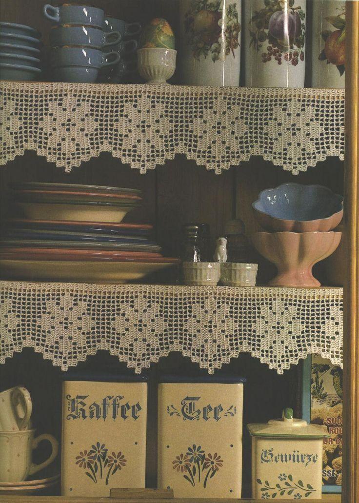 Filet Crochet Shelf-Edgings With Patterns: