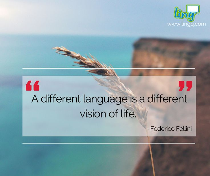 """A different language is a different vision of life."" - Federico Fellini ‪#‎LearnLanguages‬ ‪#‎LingQ‬ ‪#‎DifferentLanguage‬"