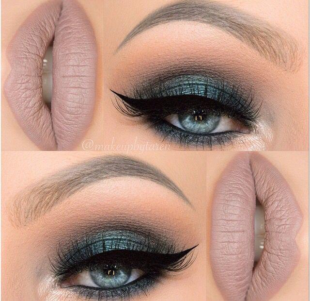 Maquillaje en tono verde esmeralda
