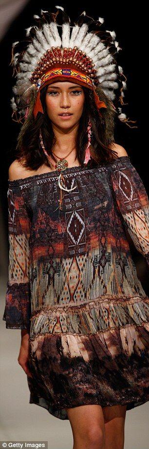 dame trelise cooper native American catwalk fashion
