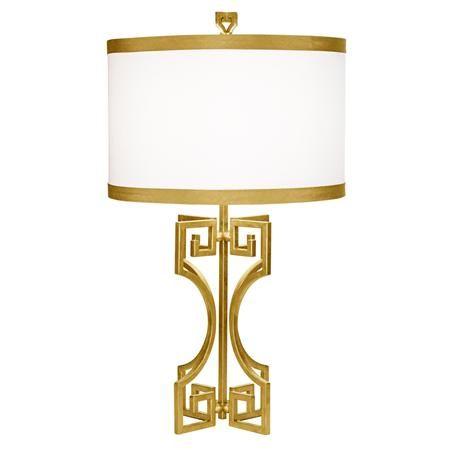 Greek Key Table Lamp