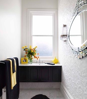 Black White Yellow And Venetian Mirror Perfection
