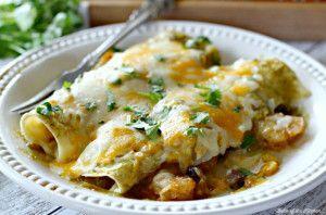 Corn and Black Bean Shrimp Enchiladas | Belle of the Kitchen