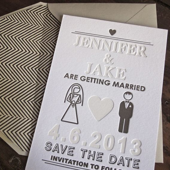 Jennifer Hawkins and Jake Wall's save the date
