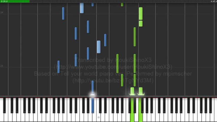 [楽譜] Synthesia - Tell Your World - livetune feat. Hatsune Miku - Piano M...