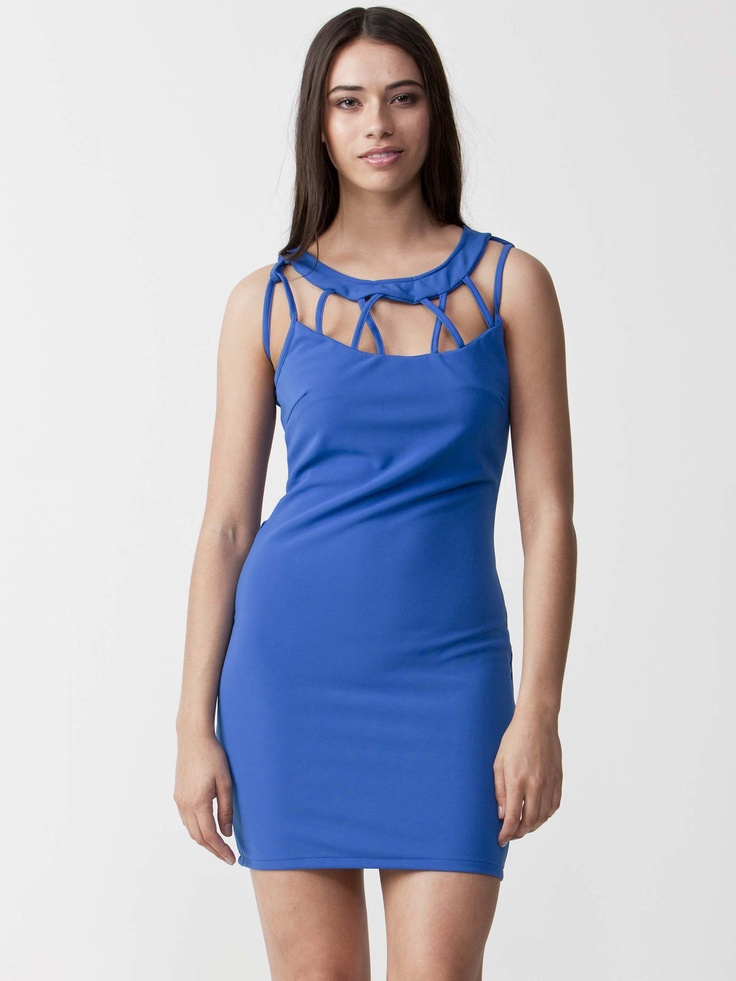 Kylie - Cut out Dress with round neckline.  Features shoulder cutout with lace details.  Regular fit cut and enclosed side zip fastening. $83.60