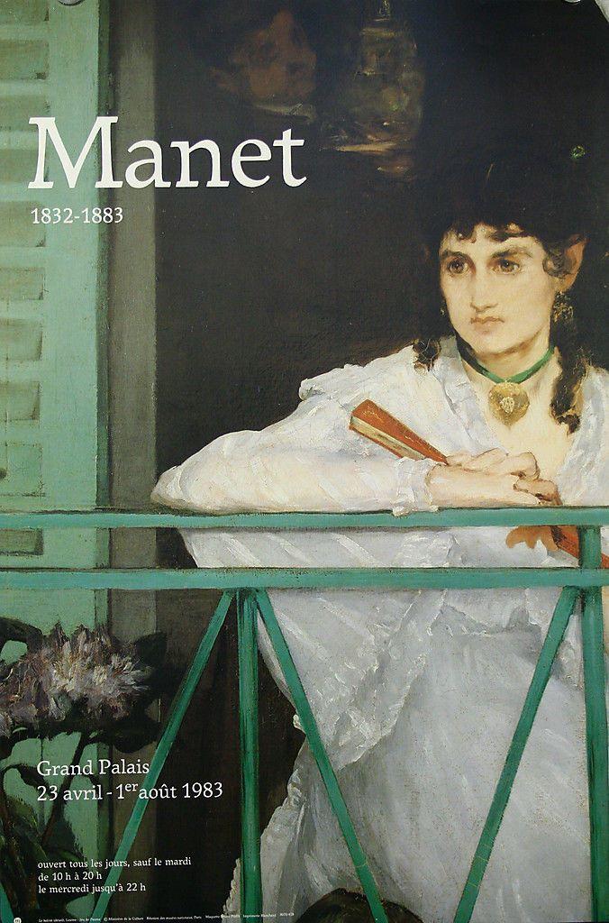 Affiche expo Manet 1832-1883, Grand Palais, Paris 1983. Le Balcon, Le Louvre.