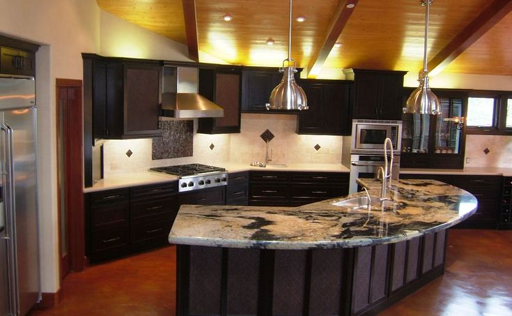 22 best images about painted ceilings with beams on pinterest - Modern luxury kitchen with granite countertop ...