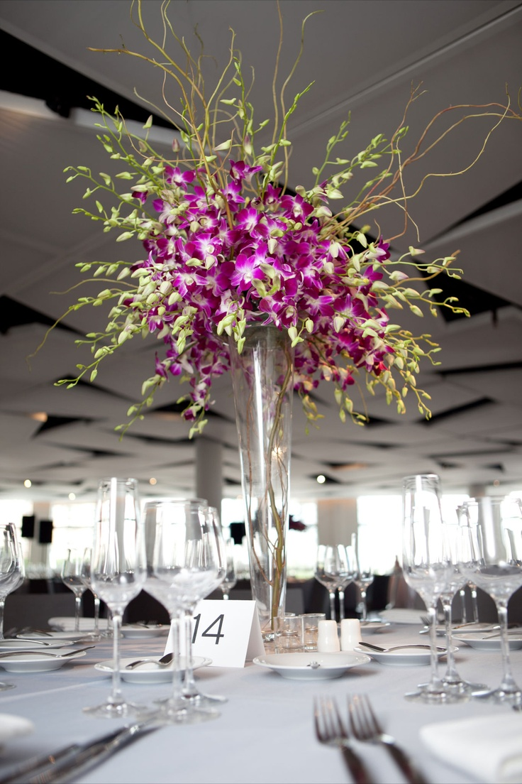 Centerpiece modern orchid branch piece absolutely