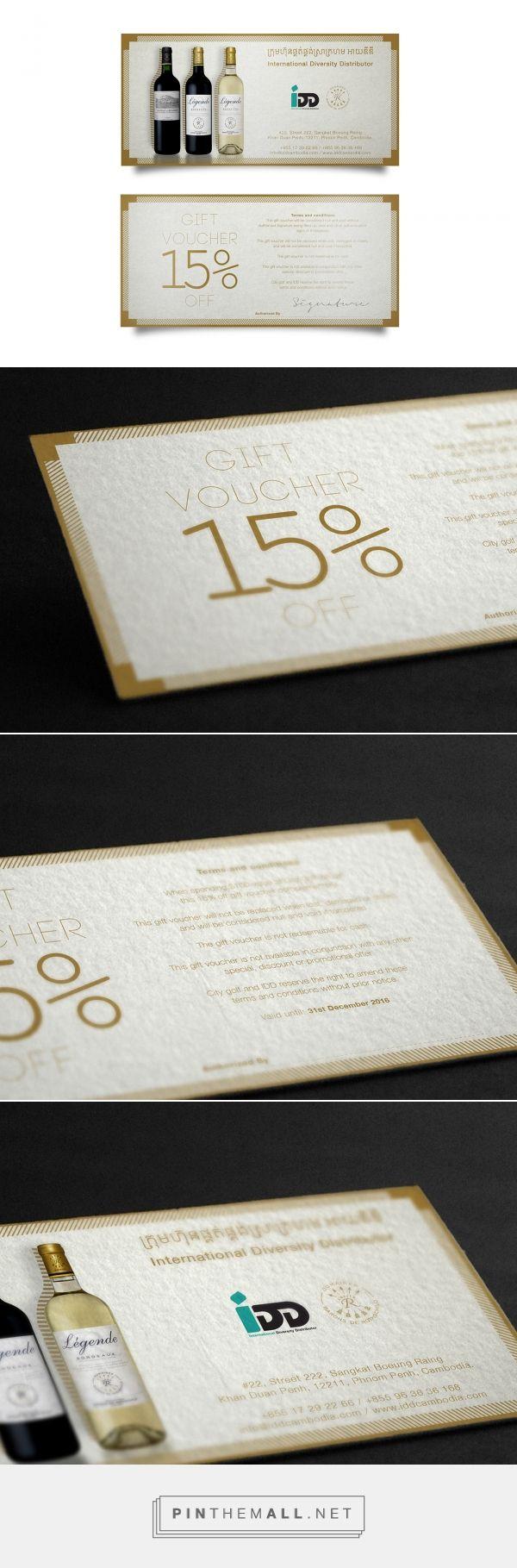 Gift Voucher Design / Complementary gift card on Behance - created via https://pinthemall.net