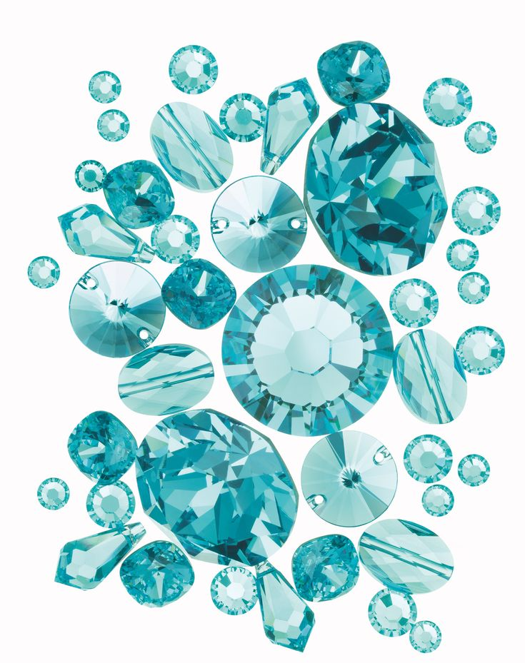 turquoise | Swarovski Elements in Light Turquoise