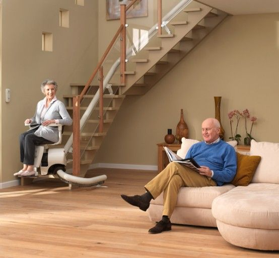 Curved Stair Lift – Sinor By ThyssenKrupp Monolift | DigsDigs